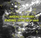 weather weekly report 29th July 2017