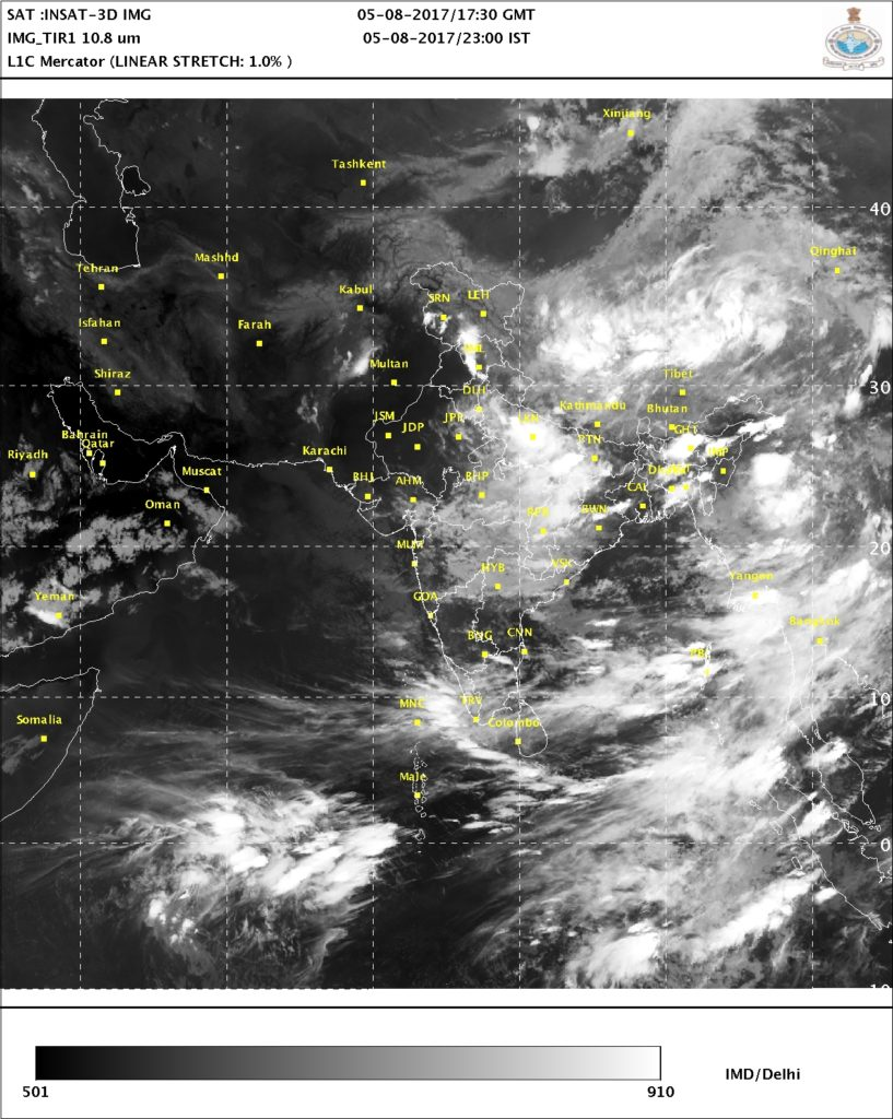 Satellite Picture 5th August 2017 2300 IST
