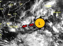 Low pressure over Bay on 22nd November