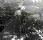 Satellite picture on 10 December 2017